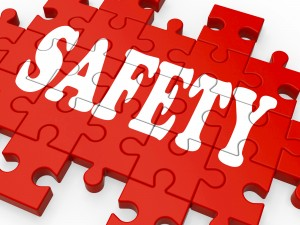 Safety Puzzle Showing Company Security